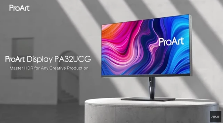 华硕32英寸MiniLED显示器上市,拥有1152个调光分区